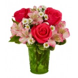 Aranjament Trandafir si Alstroemeria