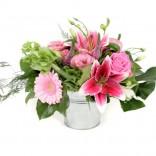 Flori roz botez