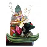Aranjament flori uscate barca